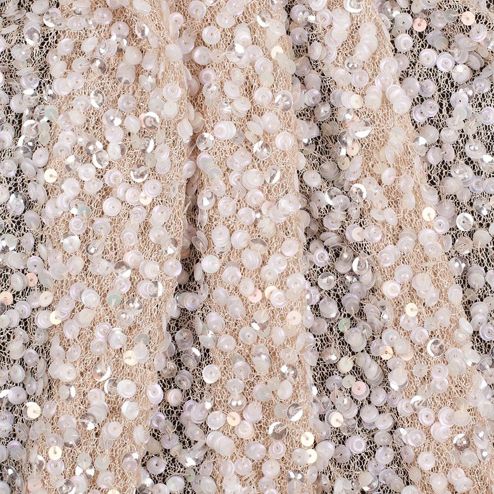 Beaded sequin lace wedding gown dress fabric Cloth red lace sequin shiny mesh fabric by the yard