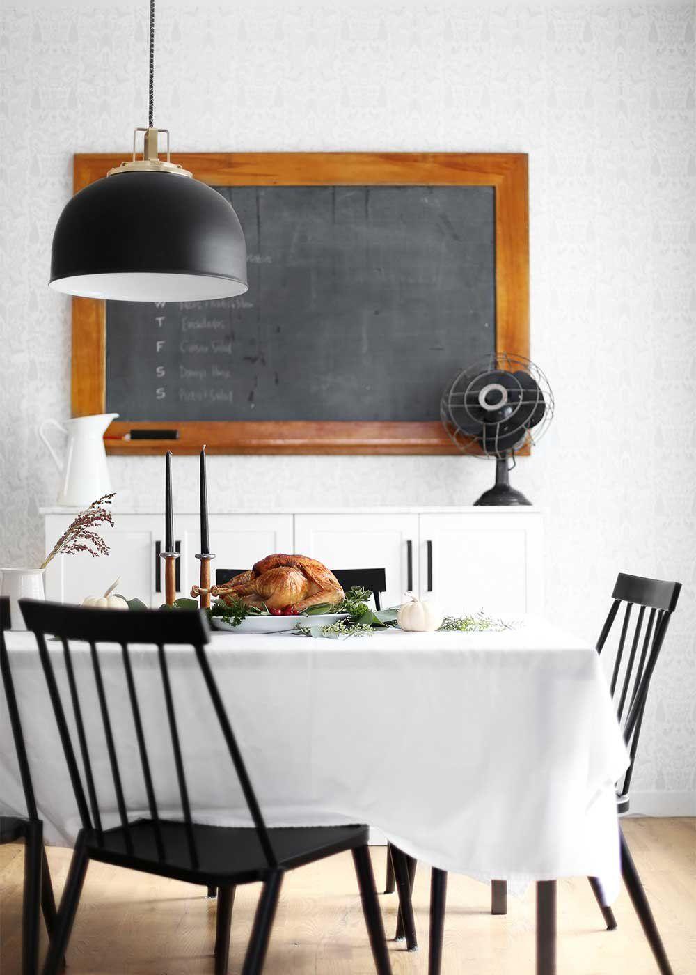 Table setting thanksgiving dinner inspiration butte pendant black dome pendant rejuvenation butte pendant vintage inspired dining room dining room