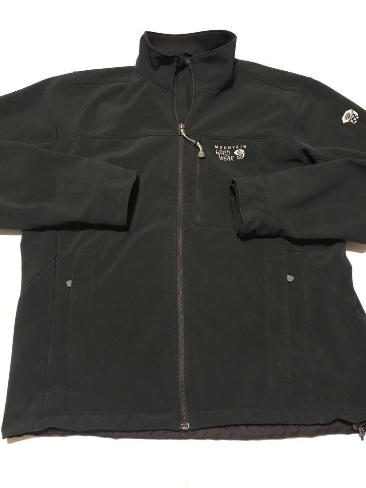 Mountain Hardwear Jacket Mens M Black Hommes Full Zip Soft