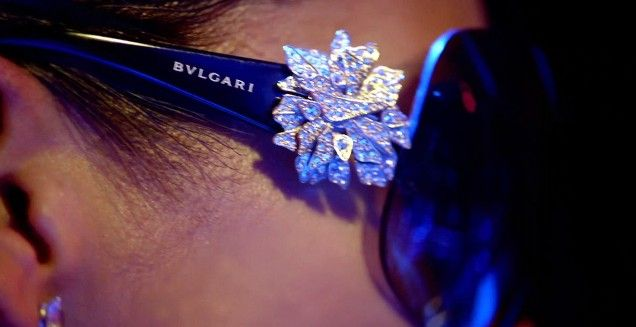 21514dc214 Bvlgari Sunglasses Crystal Flower Alicia Keys Girl On Fire