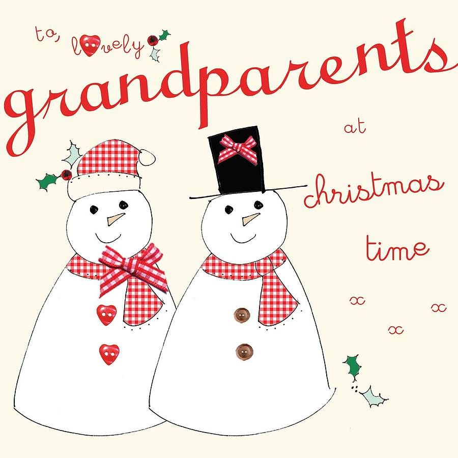 Handmade To Grandparents Christmas Card By Laura Sherratt Designs