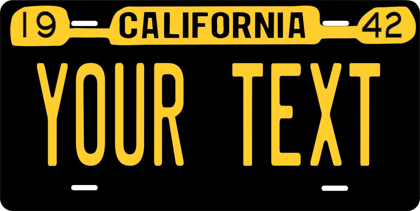 10.7 California 1942 License Plate Personalized Custom