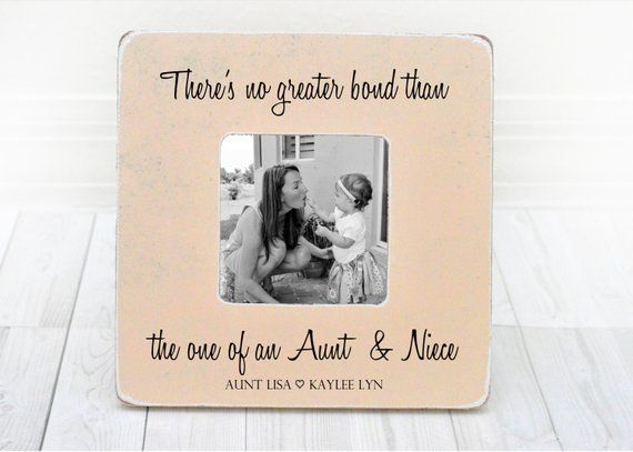 Mothers Day Gift For Aunt Auntie Gift Personalized Picture Frame