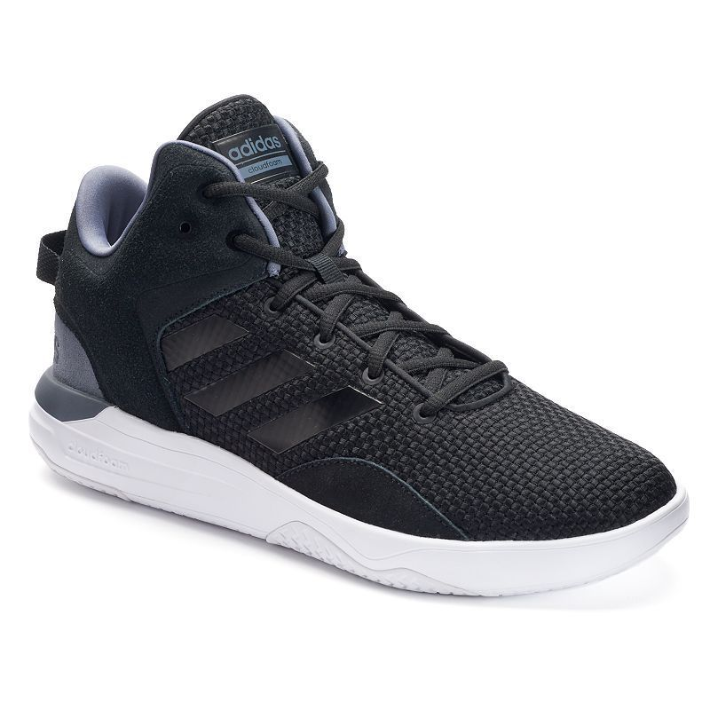 best value 52007 30a54 Adidas NEO Cloudfoam Revival Men s Mid-Top Shoes, Size  11.5, Black