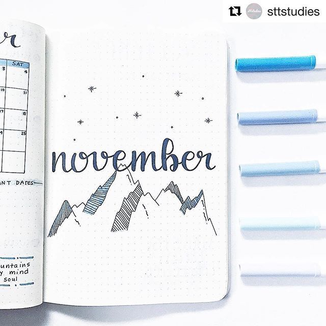 FABULOUS November Bullet Journal Themes {Cover pages and plan with me videos to inspire you!} #novemberbulletjournalcover