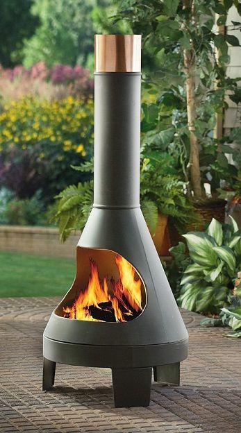 chimenea 46grey patio in 2019 outdoor chiminea modern outdoor rh pinterest com