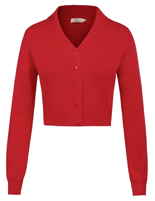 Women Long Sleeve Cotton Bolero Shrug Cardigan For Dress Tops