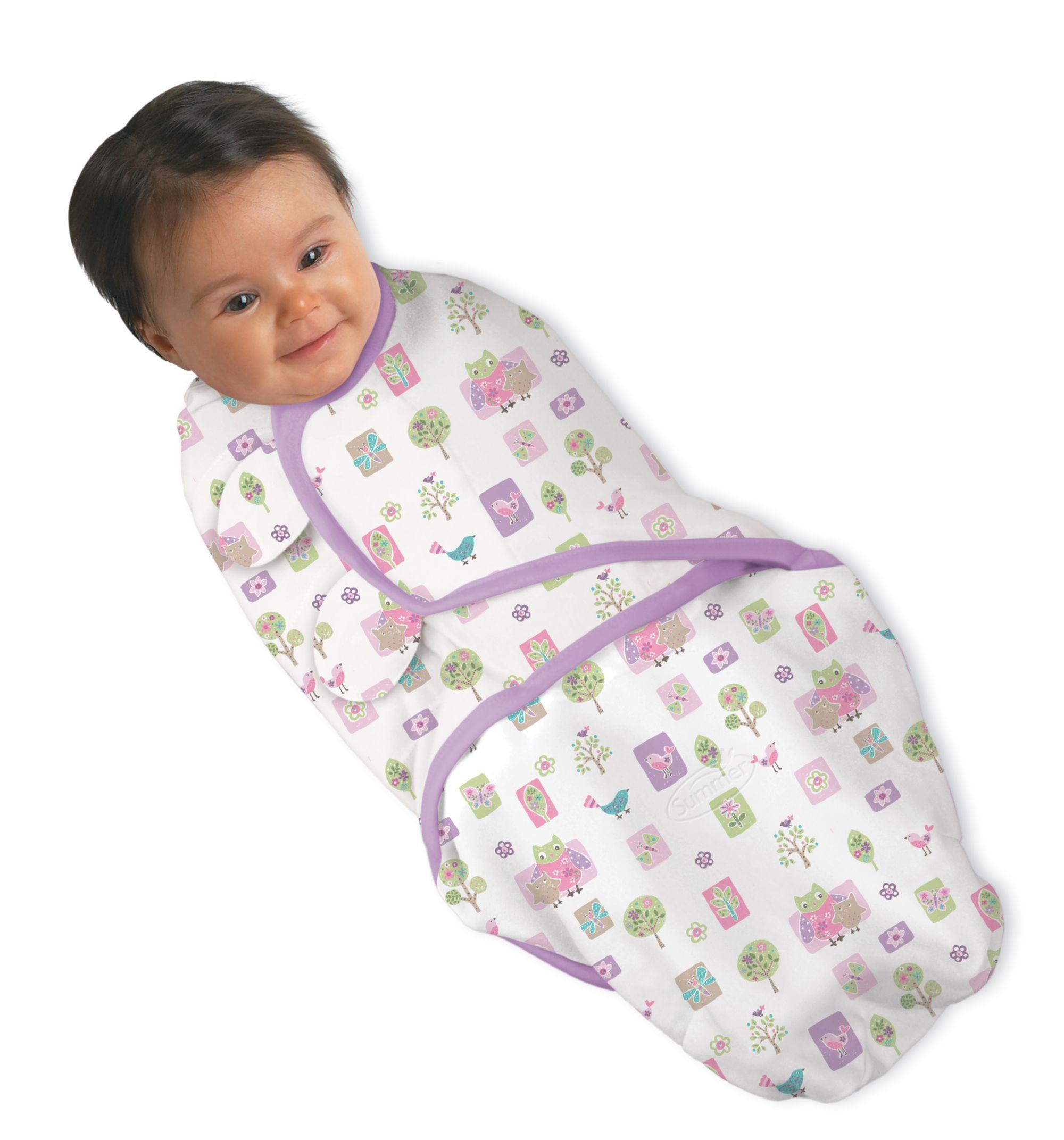 Summer Infant SwaddleMe 3-Pack Swaddling Wraps - Pink