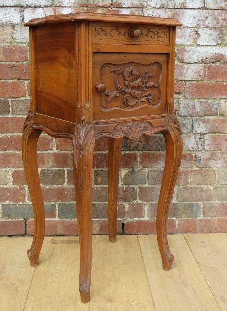 Marble Top Bedside Cabinet C 1910