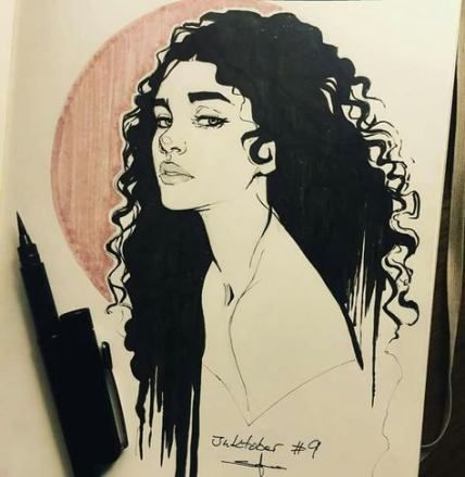 66 Ideas hair curly drawing sketch #sketchart
