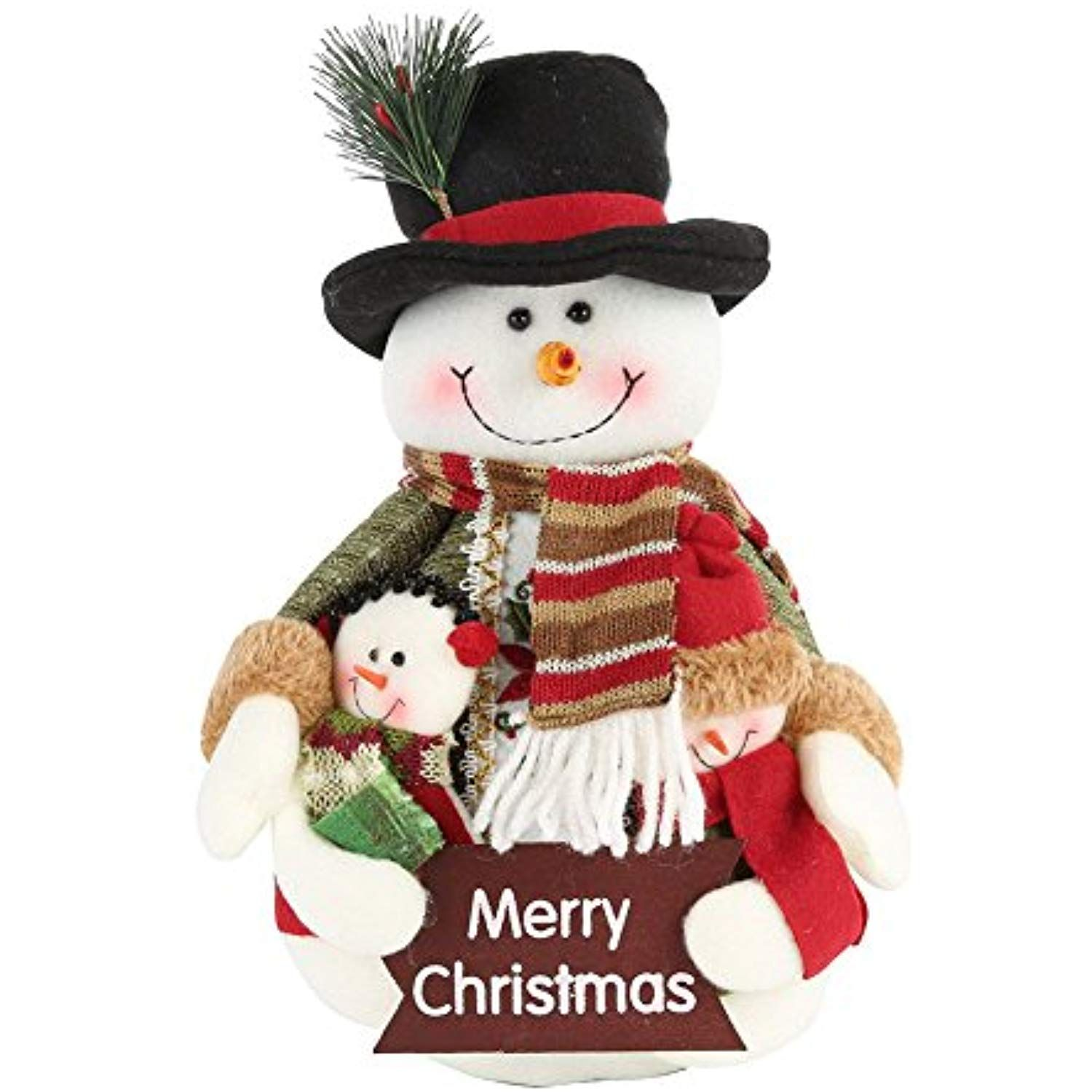 Christmas Dolls Decor Green Snowman Claus Xmas Hanging Table Standing Ornament