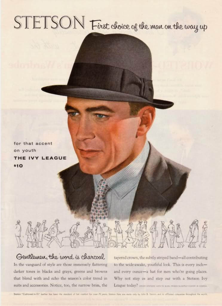 Publicidad sombrero Stetson 1955