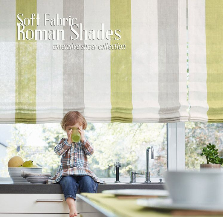Love This Striped Sheer Fabric For Roman