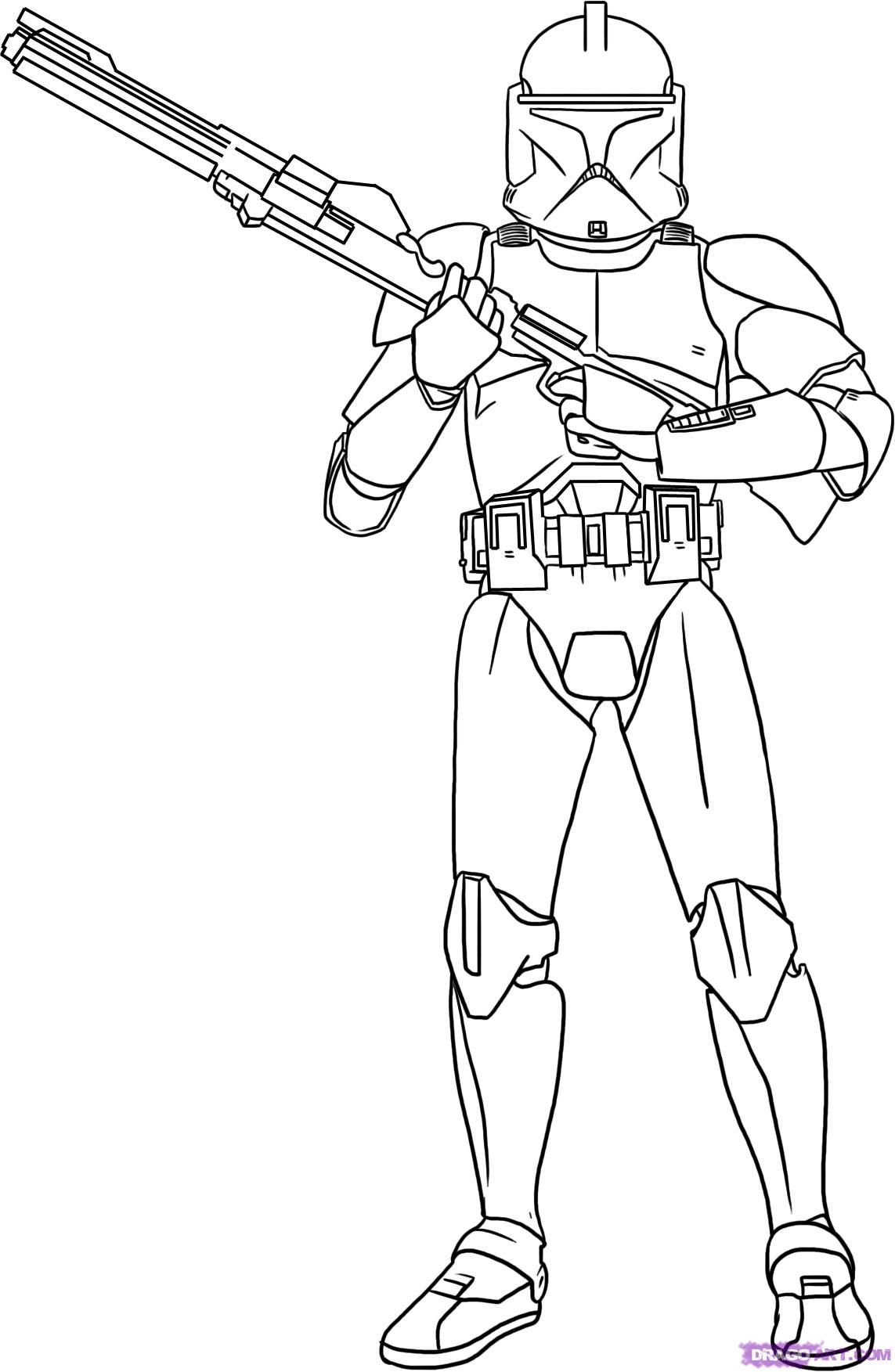 Star Wars Pictures To Color Star Wars The Clone Wars Coloring