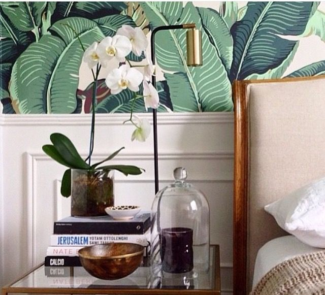 Banana Leaf Martinique Wallpaper And Wall Mouldings