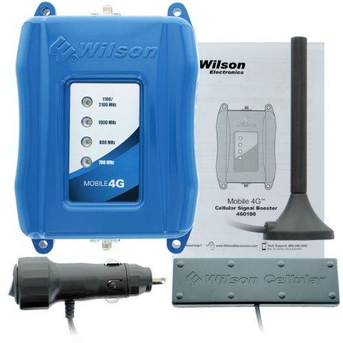 cool Wilson Electronics Mobile 4G Vehicle Cellular Signal Booster Kit – Retail Packaging – Blue
