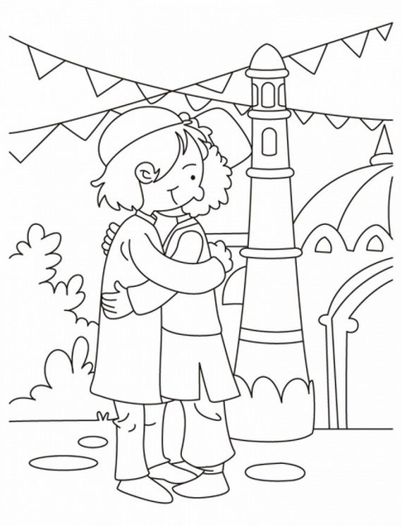 Eid Coloring Page For Kids Coloring Pages Coloring Pages For