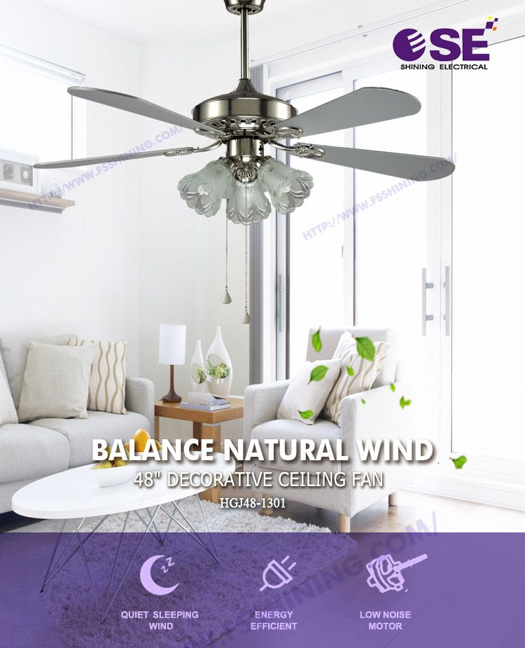 best quality 48 in 360 degree allen roth material blade bldc ceiling