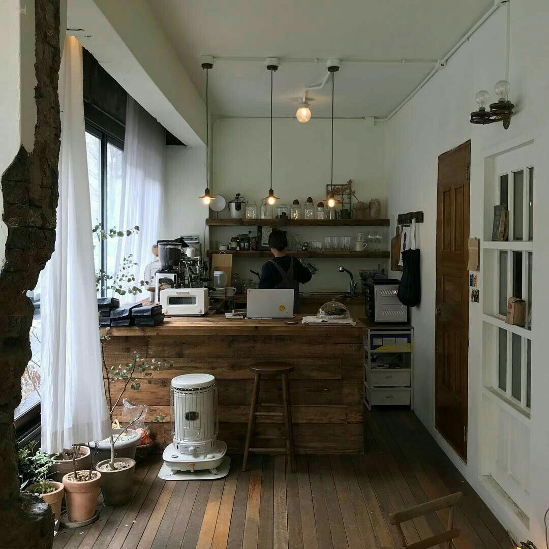 korean kitchen aesthetic room decor seoul beige coffee cream milk ideas tea wooden light soft on kitchen interior korean id=54639