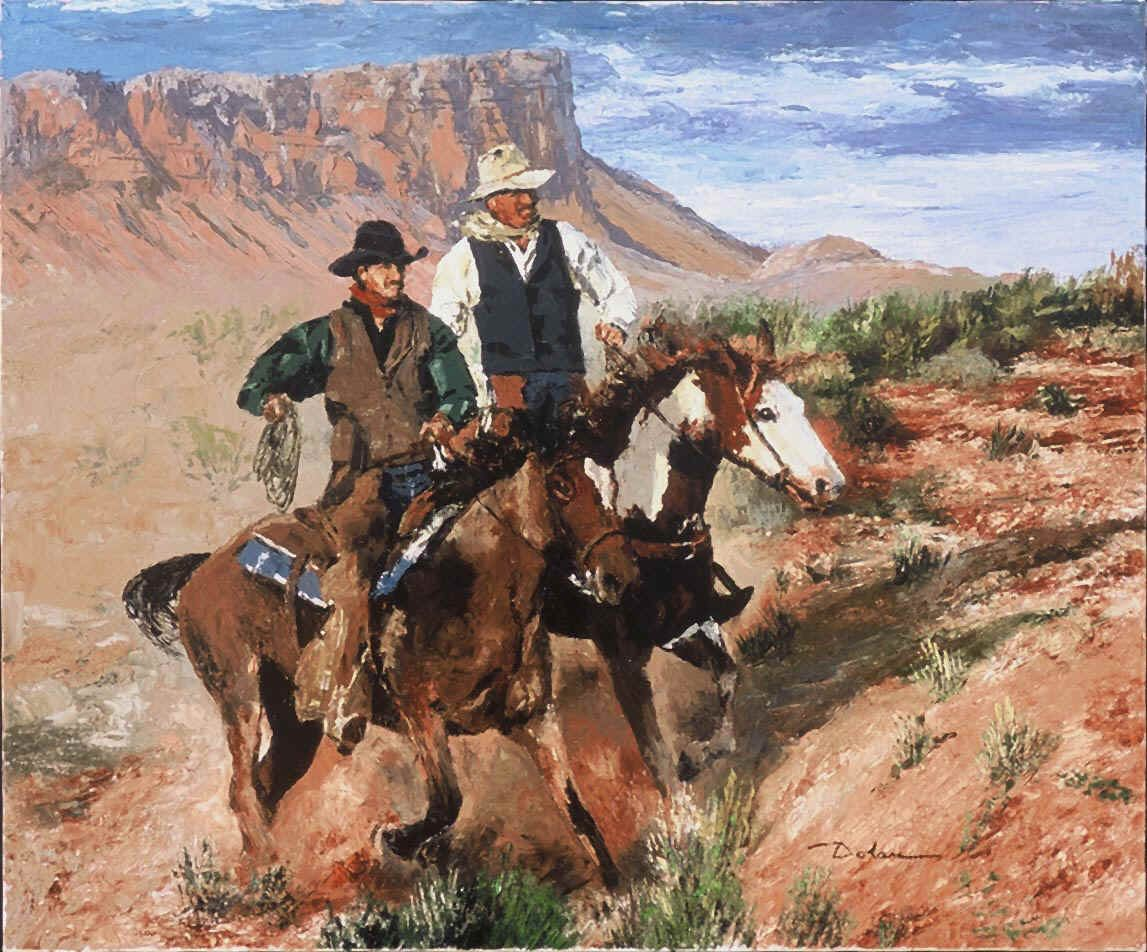 West Cowboys Cowbows Wild Art Purchase Animals