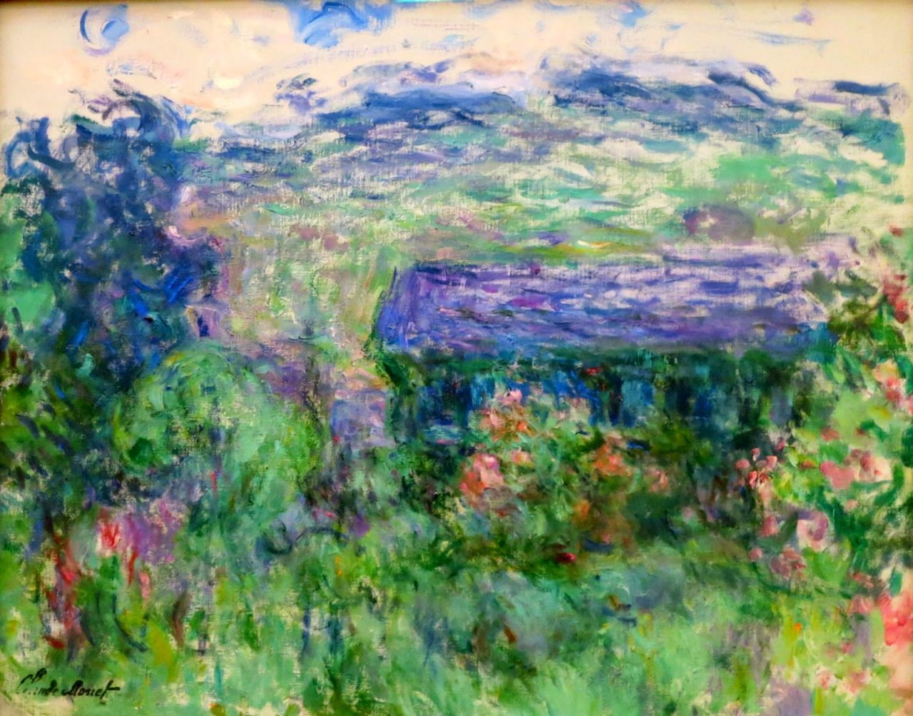 Claude Monet, The House among the Roses, 1925-26