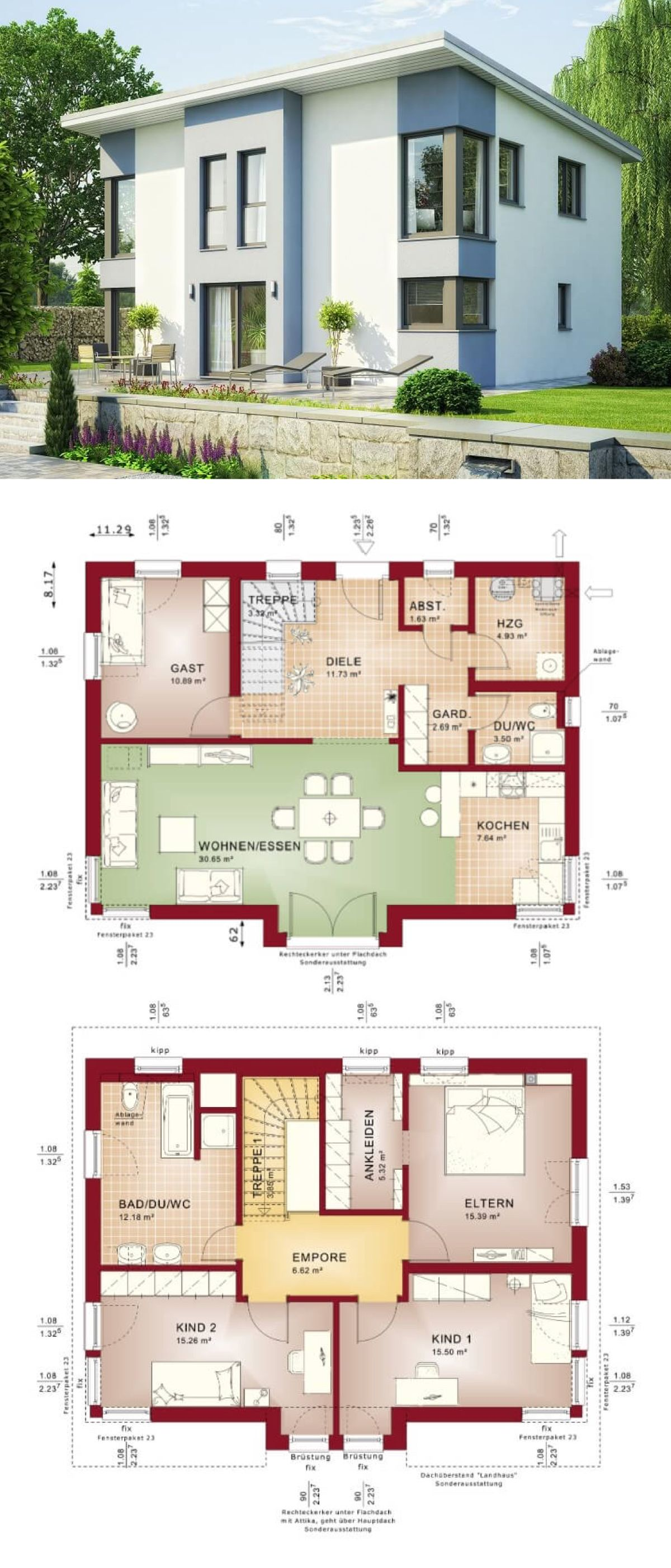 Pultdachhaus Architektur Modern Mit Erker Haus Bauen Grundriss