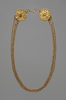 Necklace:     Migration Period, Germanic (?)    Second Half 4th Century AD                                                      ...