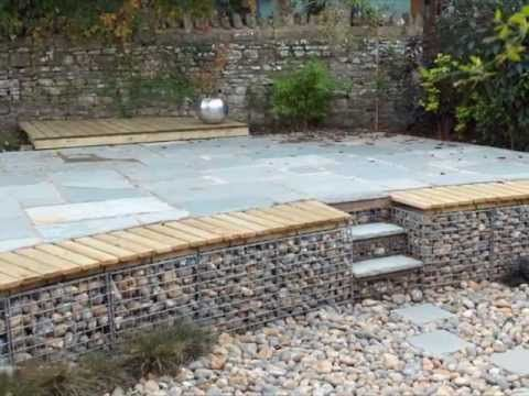 Gabion Retaining Wall With Lights Cheap Retaining Wall Landscaping Retaining Walls Gabion Retaining Wall