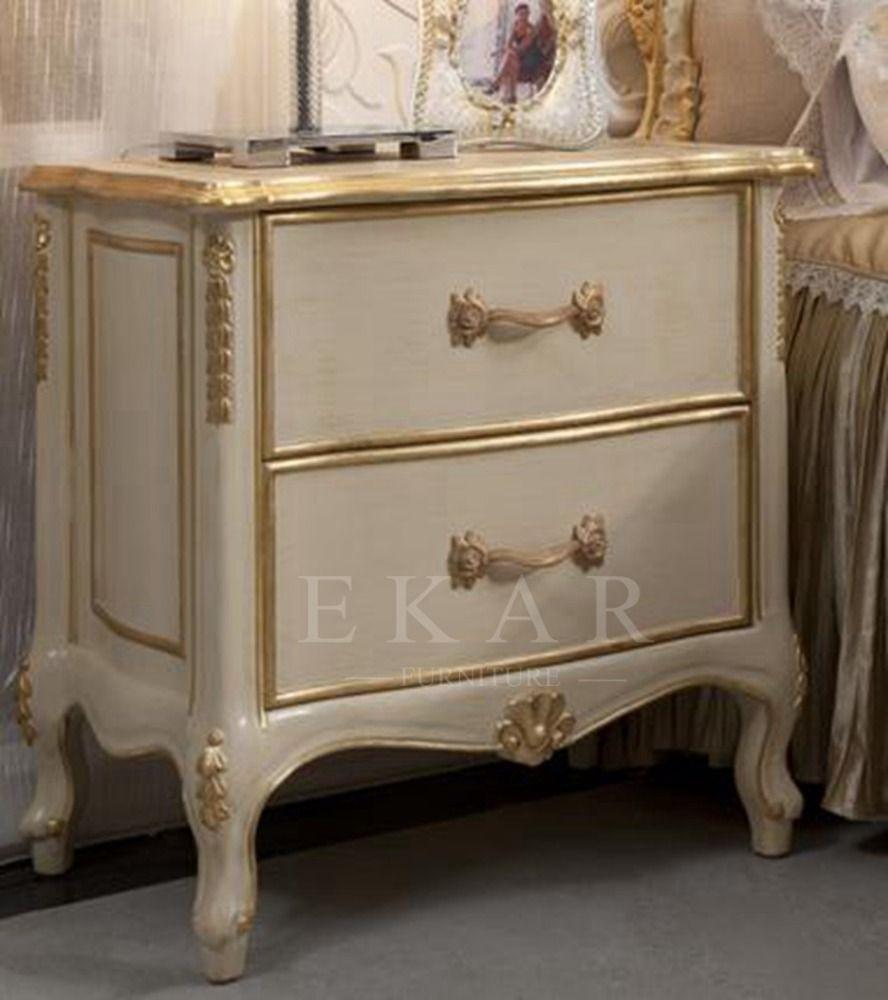 Antieke Houten Slaapkamer Meubels Rococo Nachtkastje-afbeelding ...
