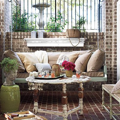 mantle behind the swing! (southernliving.com)