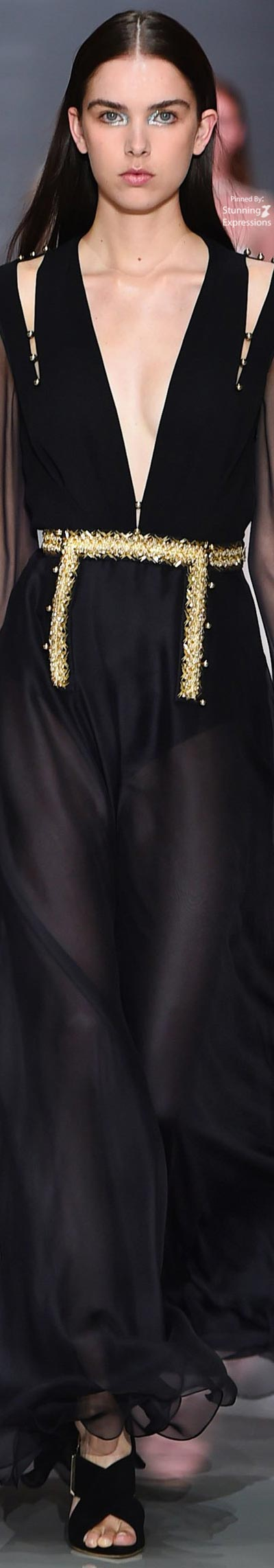 Ralph and russo spring color blackgold pinterest