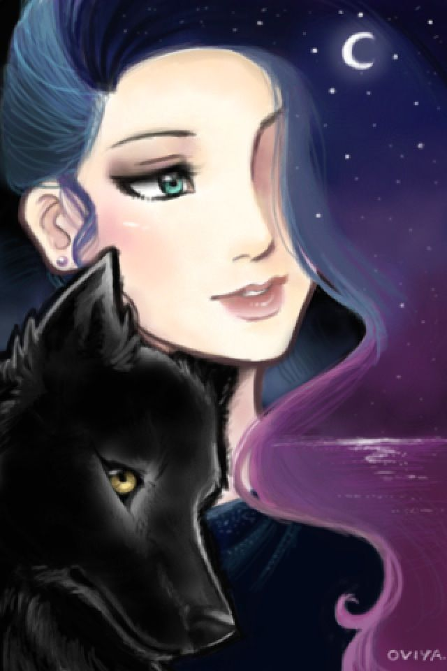 Girl With Galaxy Hair Anime Wolf Girl Galaxy Hair Anime Galaxy