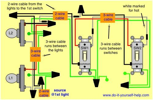 Pin on electrical  Way Wiring Diagram For Lights In Home on