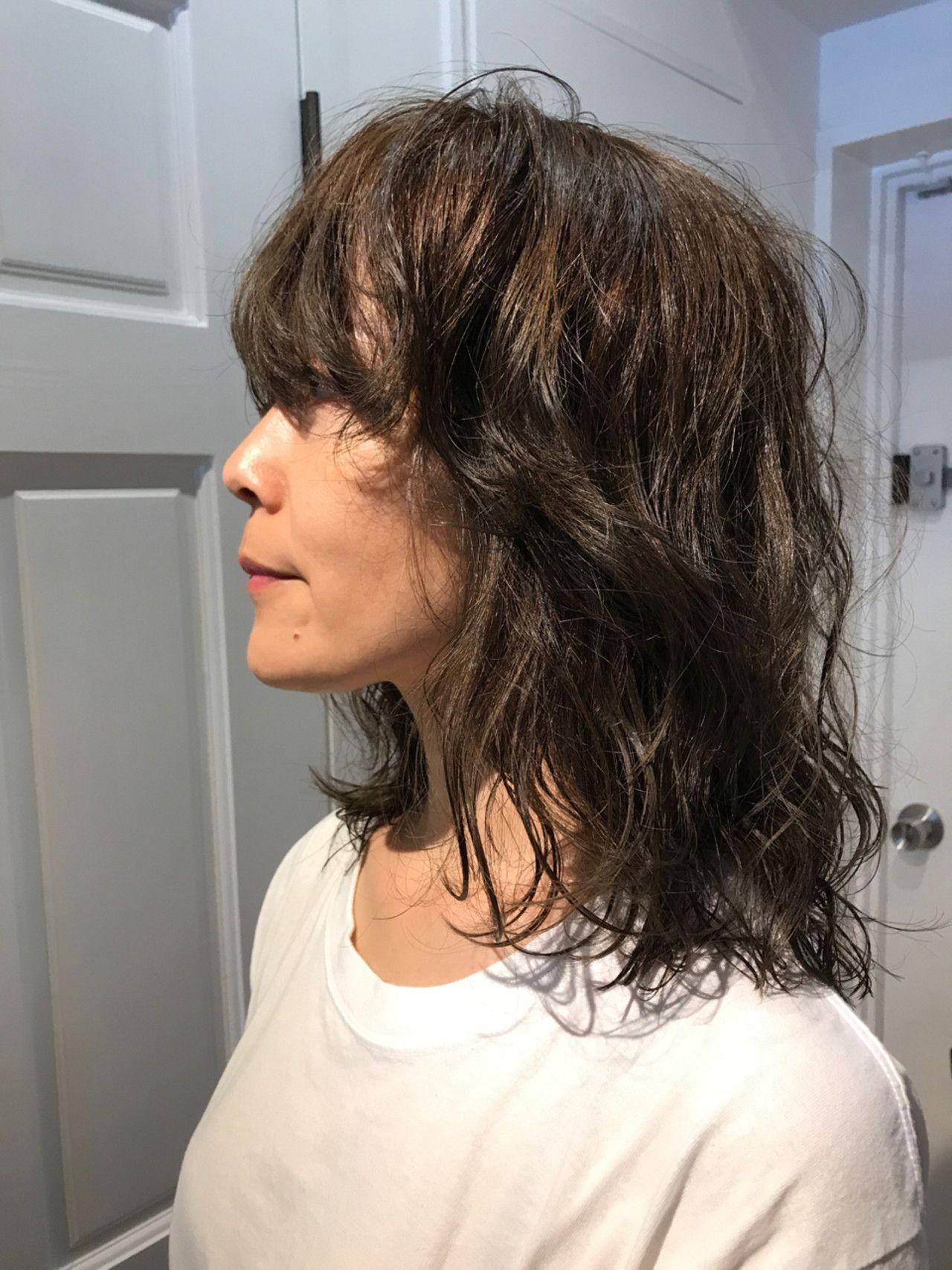 ミディアム マッシュ 外国人風 ウルフカット Homie Tokyo Yukina Homie Tokyo 313779 Hair ウェービーヘア レイヤーカットヘア 髪型