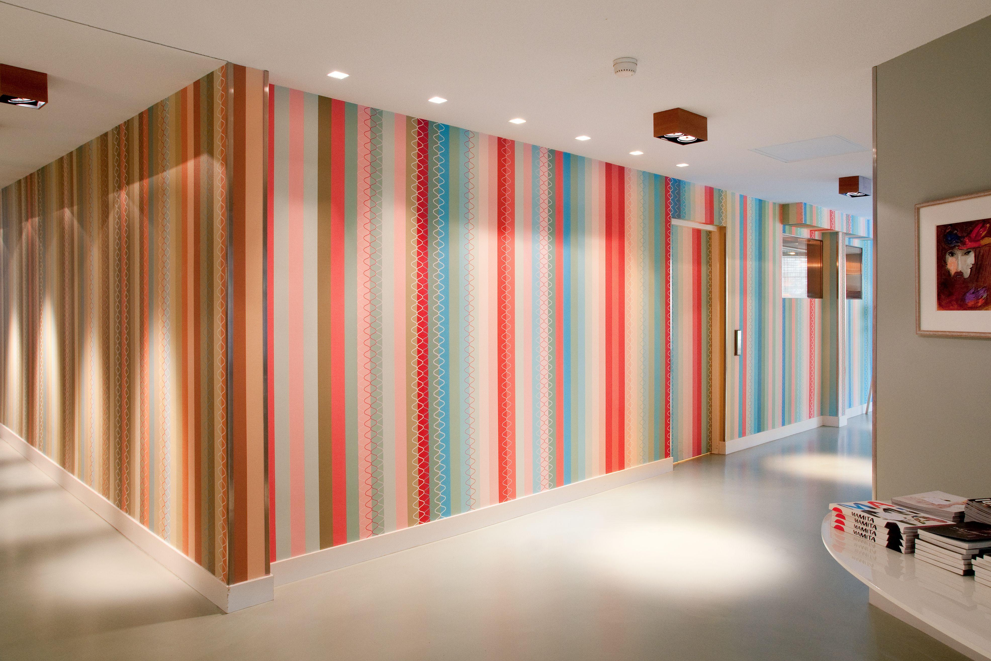 Blooming Hotel Bergen aan Zee Digital Wallpaper/Fotobehang Stripes by Edward van Vliet - BN Wallcoverings