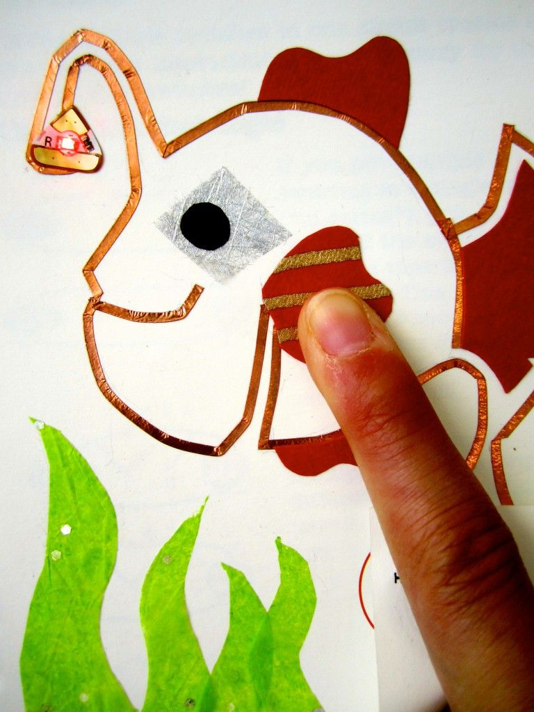 Circuit Sticker Tutorial 3 Diy Switch Squishy Circuits Make The Part Of Art Craft Picture Led Paper Chibitronics