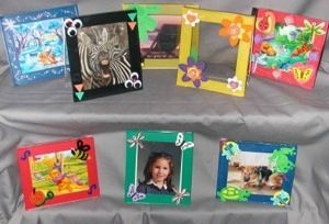 Create fun photo or art work frames with CD cases. Kids love doing them and can be very creative by using recycled materials such as wool, ribbon, beans, googlie eyes, etc.