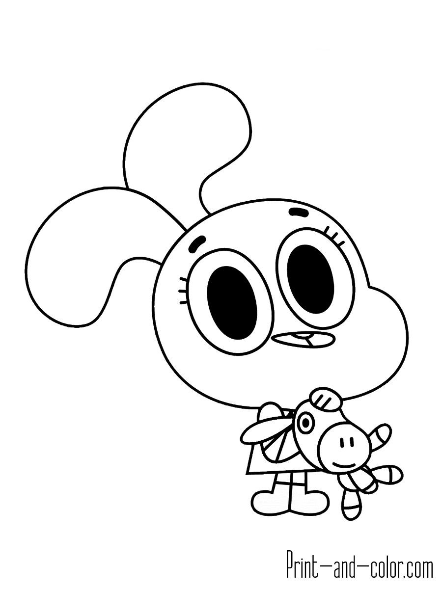 Awesome Picture Of Gumball Coloring Pages World Of Gumball Cool