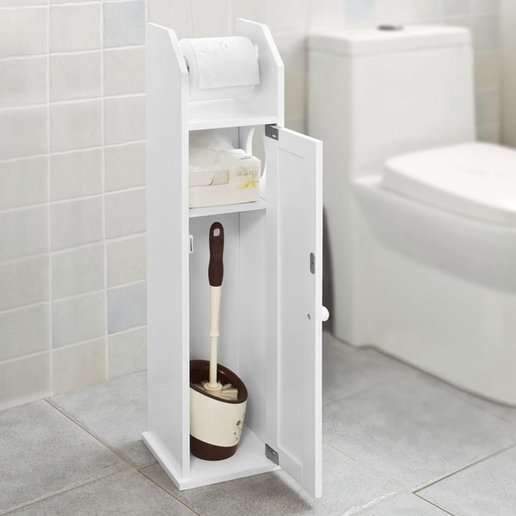 Sobuy Freistehend Weiss Toilettenrollenhalter Papier Halter Frg135 W Toilettenrollenhalter Badezimmer Aufbewahrung Toiletten