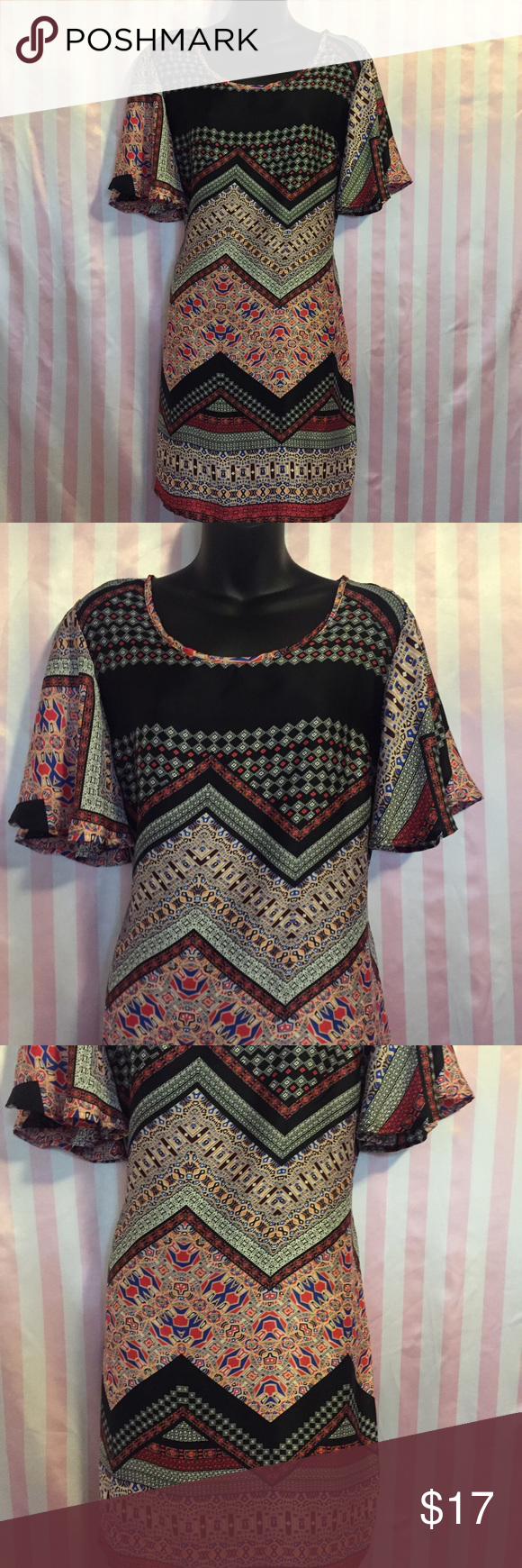 New medium  tunic dress Satin Moroccan inspired Tunic/dress Loose fit Summer Dresses