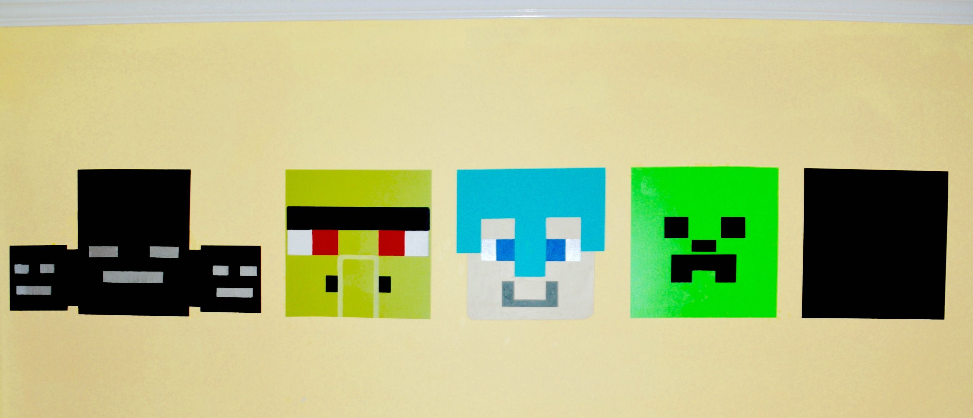 minecraft mural is easier than you might guess. | Girls room ...