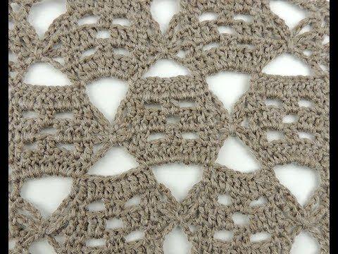 Crochet: Punto Combinado # 32 - YouTube | GALERÍA DE PUNTOS NIVEL ...