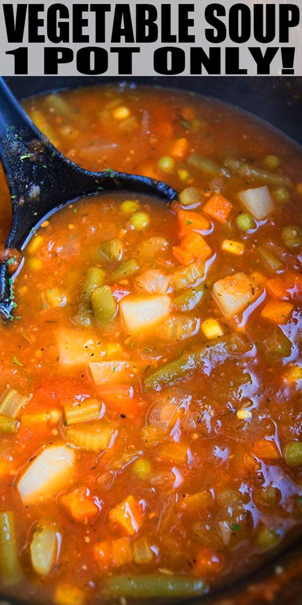 Photo of Easy Vegetable Soup (One Pot)