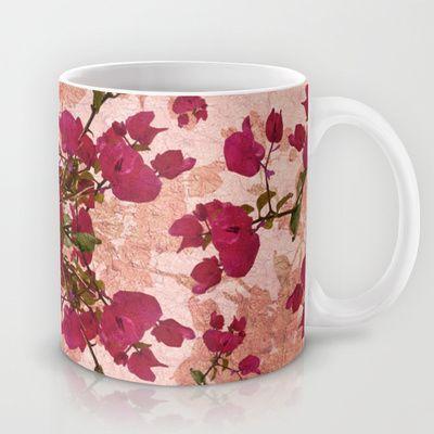 #Retro #Vintage #Floralprint Motif #print #Mug by Danflcreativo - $15.00