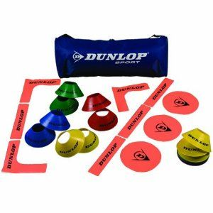 Dunlop Sports Dunlop Mini Court Kit by Dunlop Sports. $99.00. Includes: 1 mini tennis bag, 4 Throw Down Court Edges, 12 Throw Down Court Lines, 6 flat targets, and 20 cones.. Tennis Court kit bag that includes cones, court lines and targets