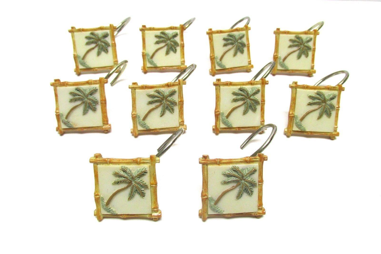 Palm Tree Shower Curtain Hooks