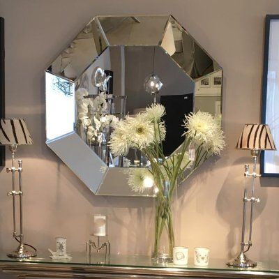 Large Octagon Mirror Ideal For Creating A Statement In Any Bathroom