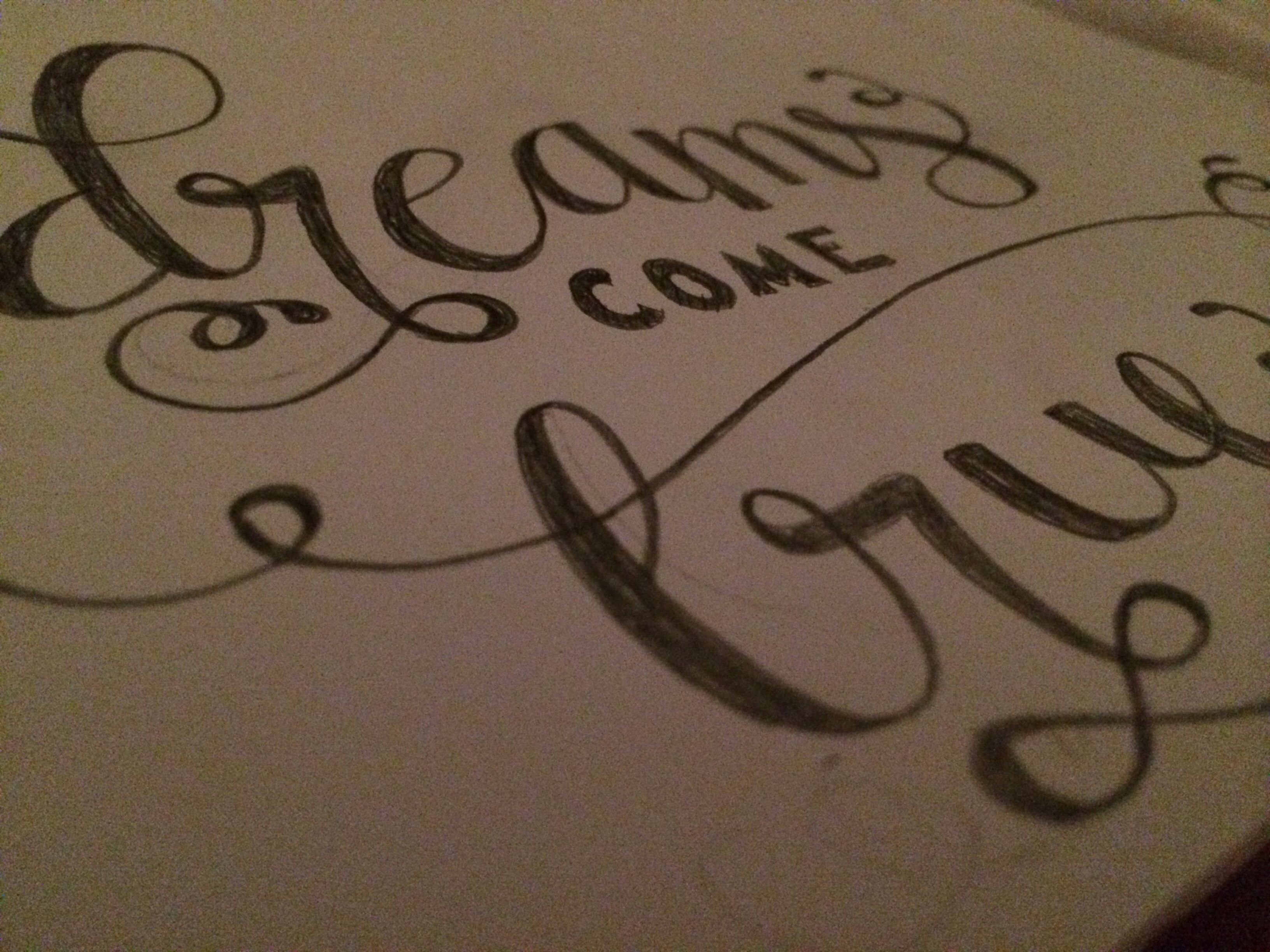 Some Of My Work Dreams Come True Handlettering In