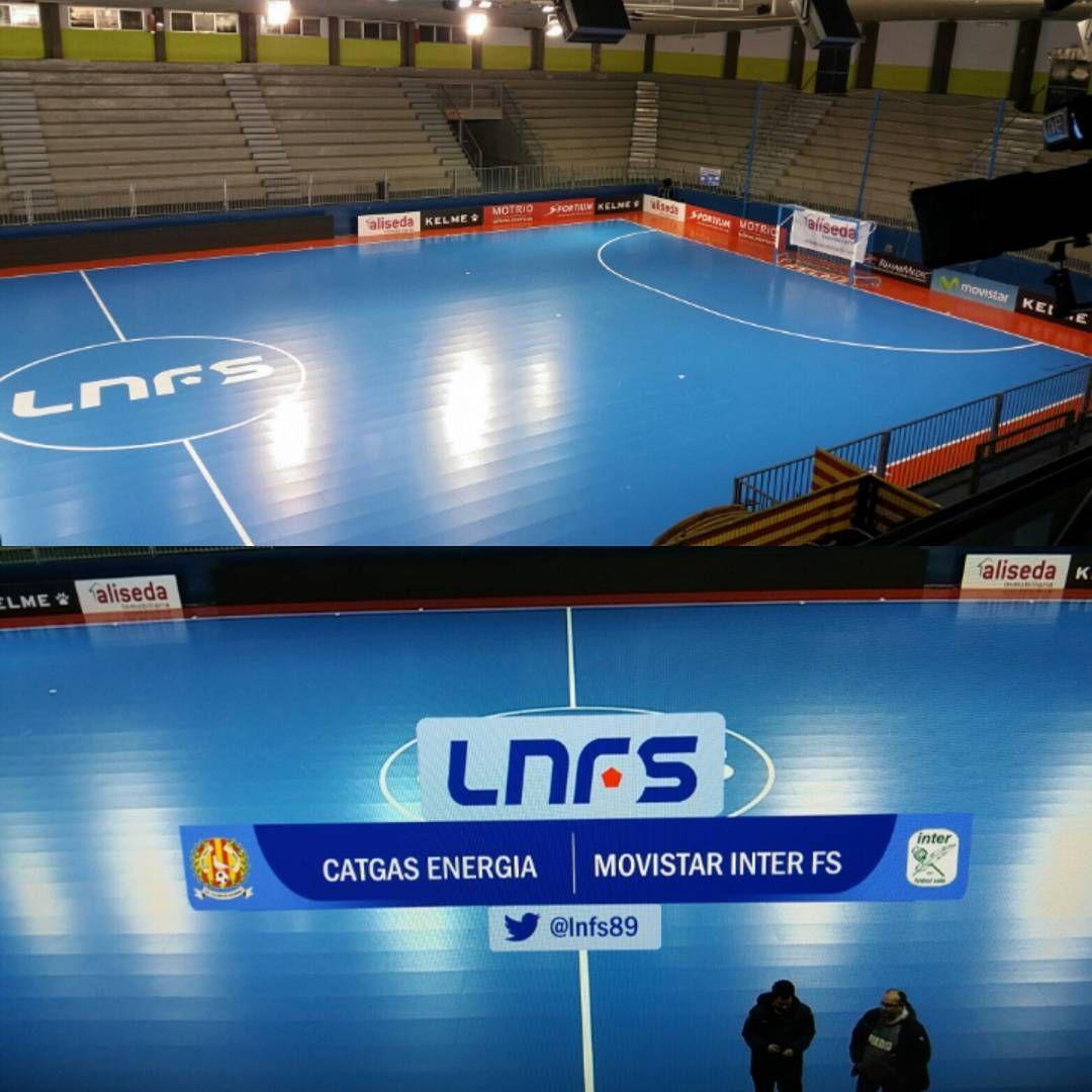 Primer partido del fin de semana. Fútbol Sala, Catgas Santa Coloma - Movistar Inter