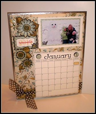 Magnetic Photo Calendar Tutorial Photo Memory Projects